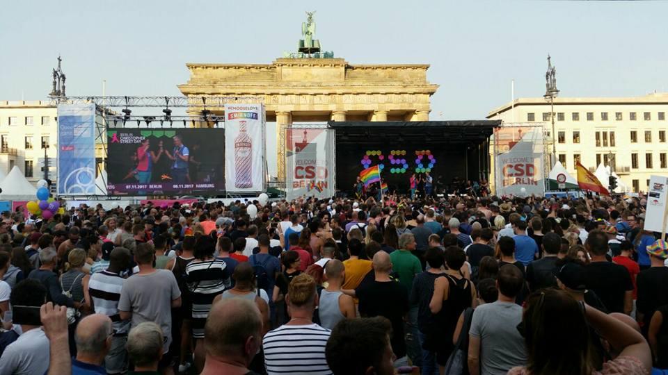 Christopher Street Day Berlin 2017 – Finale vor dem Brandenburger Tor