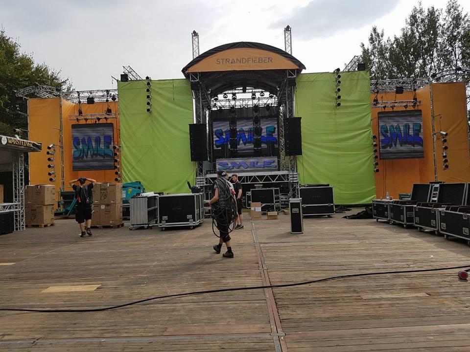 Strandfieber-Festival – Aufbau